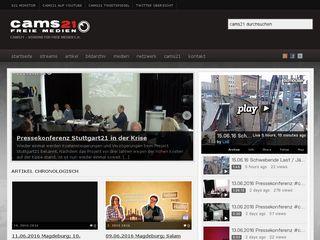 Earlier screenshot of cams21.de