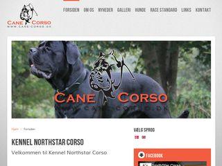 Earlier screenshot of cane-corso.dk