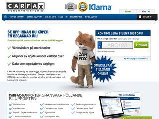 Earlier screenshot of carfax.se