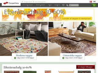 Earlier screenshot of carpetvista.dk