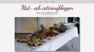 Earlier screenshot of cateringstockholm.org