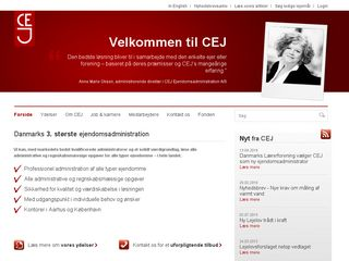 Earlier screenshot of cej.dk