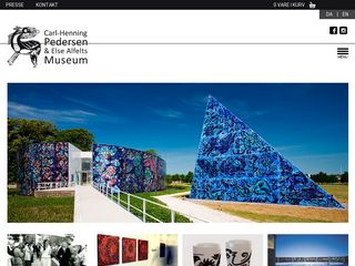Earlier screenshot of chpeamuseum.dk