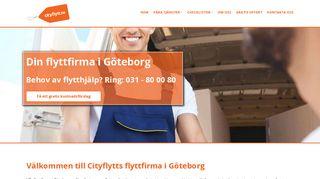 Earlier screenshot of cityflytt.se