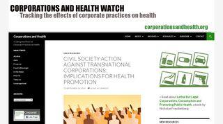 corporationsandhealth.org