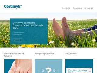 Earlier screenshot of cortimyk.se