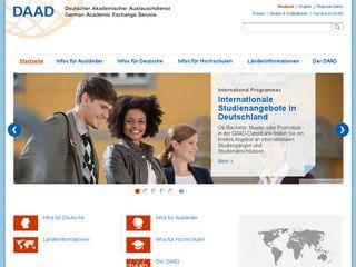 Earlier screenshot of daad.de