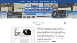 Earlier screenshot of dagenshemsida.n.nu