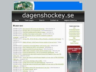 Earlier screenshot of dagenshockey.se