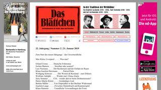 das-blaettchen.de