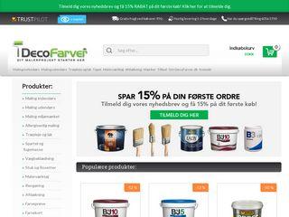 Earlier screenshot of decofarver.dk