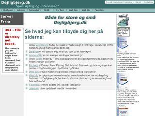 Earlier screenshot of dejligbjerg.dk