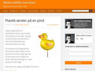 Earlier screenshot of demib.dk