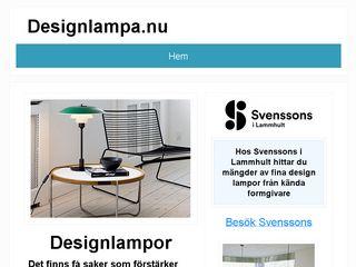 Earlier screenshot of designlampa.nu