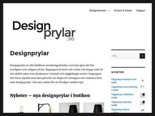 Earlier screenshot of designprylar.se