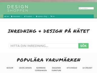 Earlier screenshot of designshoppen.se