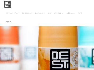 Earlier screenshot of desti.se