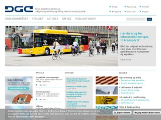Earlier screenshot of dgc.dk