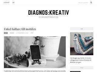 Earlier screenshot of diagnoskreativ.se