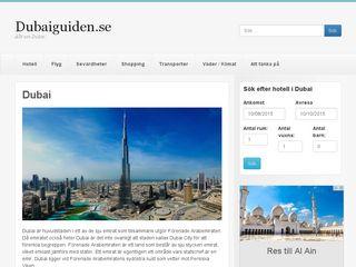 Earlier screenshot of dubaiguiden.se