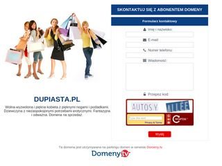 Earlier screenshot of dupiasta.pl
