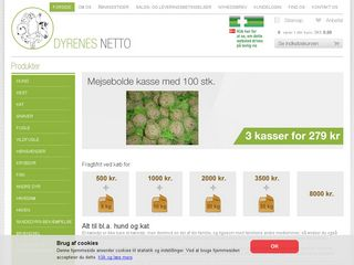 Earlier screenshot of vejlespecialfoder.dk