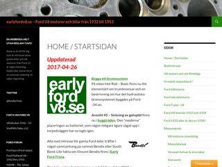 Earlier screenshot of earlyfordv8.se