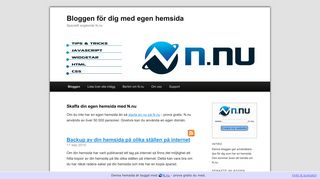 Earlier screenshot of egenhemsida.nu
