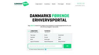 Earlier screenshot of ejendomstorvet.dk