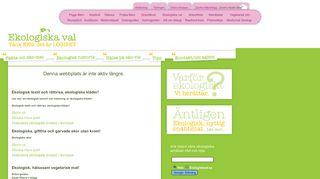 Earlier screenshot of ekologiskaval.se