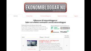 Earlier screenshot of ekonomibloggar.nu