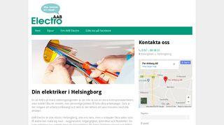 Earlier screenshot of elektrikerhelsingborg.nu