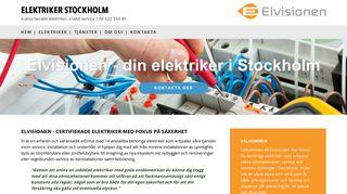 Earlier screenshot of elektrikerstockholm.biz