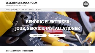 Earlier screenshot of elektrikerstockholm.nu