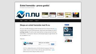 Earlier screenshot of enkelhemsida.nu