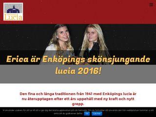 Earlier screenshot of enkopingslucia.se
