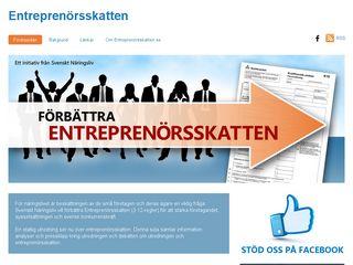 Earlier screenshot of entreprenorsskatten.se