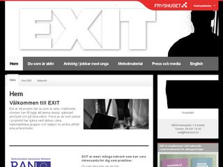 Earlier screenshot of exit.fryshuset.se