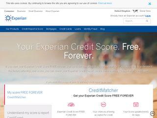 Earlier screenshot of experian.co.uk