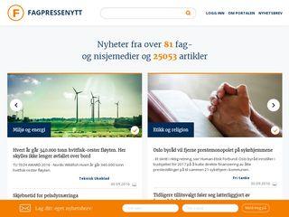 Earlier screenshot of norskog.no