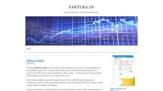 Earlier screenshot of faktura.in