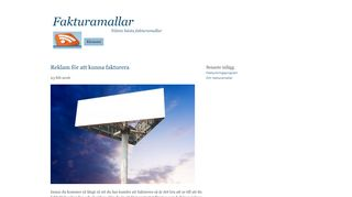 Earlier screenshot of fakturamallar.nu