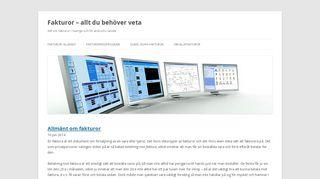 Earlier screenshot of fakturor24.se