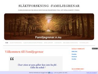 Earlier screenshot of familjegrenar.n.nu