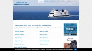 Earlier screenshot of helsingforskryssning.se