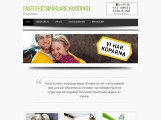 Earlier screenshot of fastighetsmaklarehuddinge.se