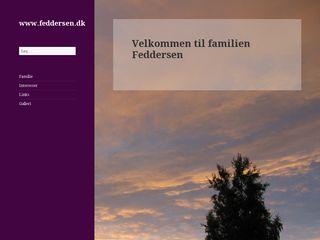 Earlier screenshot of feddersen.dk