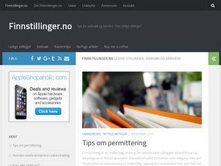 Earlier screenshot of finnstillinger.no