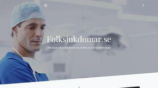 Earlier screenshot of folksjukdomar.se