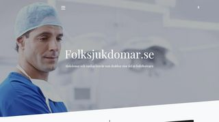 Earlier screenshot of folksjukdomar.se